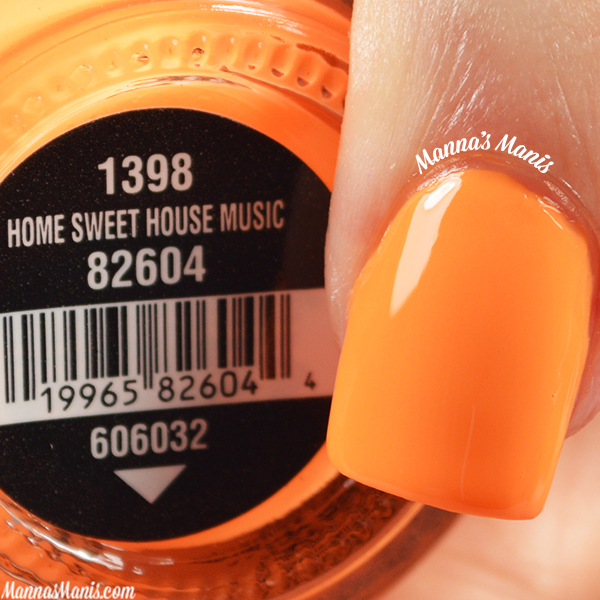China Glaze Electric Nights Home Sweet House Music swatches
