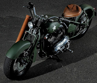 the soldier sportster military by studiomotor front left angle