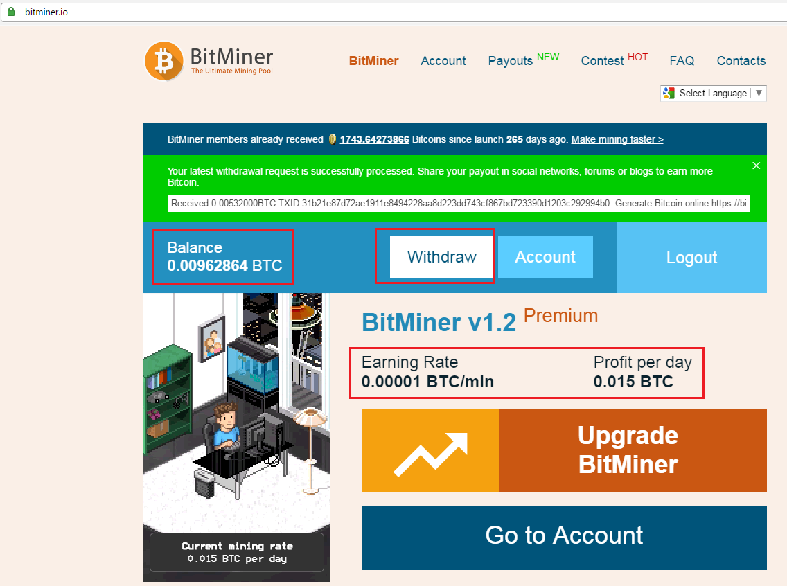 Upgraded Bitminer v1.2