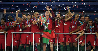 ronaldo and portugal euro 2016 champion