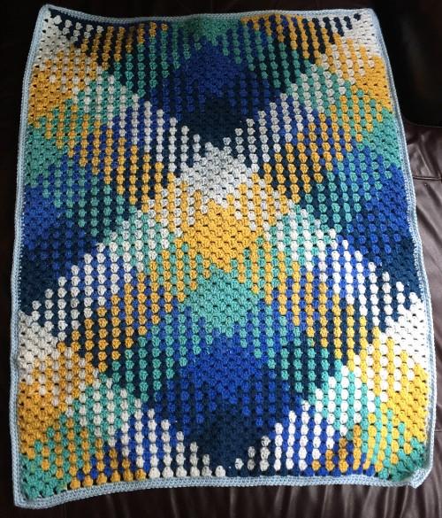 Color Pooling Baby Blanket - Free Pattern