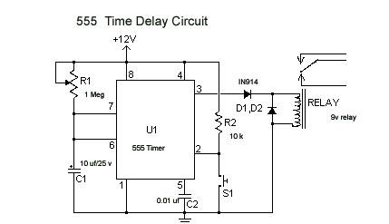 555 Time Delay Circuit | hobbytronics