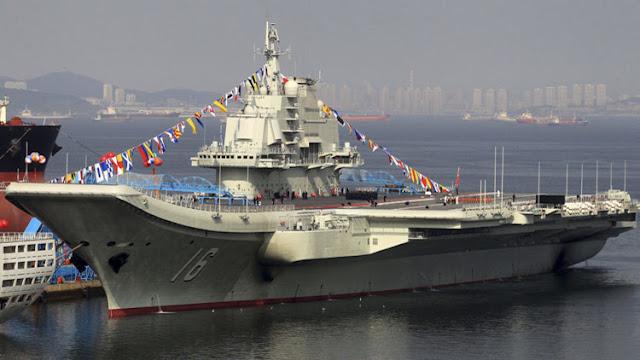 El primer portaaviones chino cumple su segunda misión con tiro real