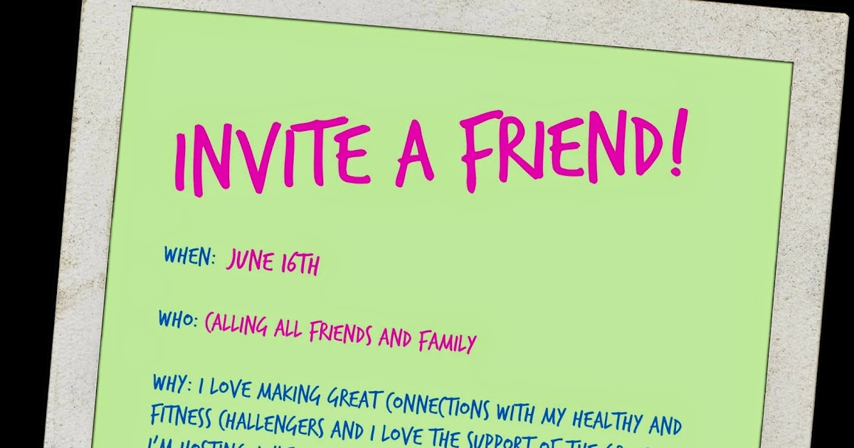 Healthy, Fit, and Focused: Invite a Friend Challenge Group!