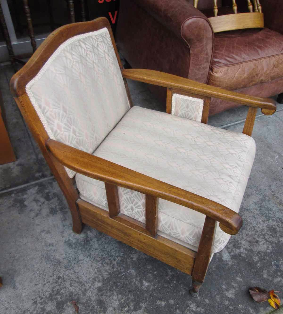 UHURU FURNITURE & COLLECTIBLES: SOLD Arm Chair with Wood ...