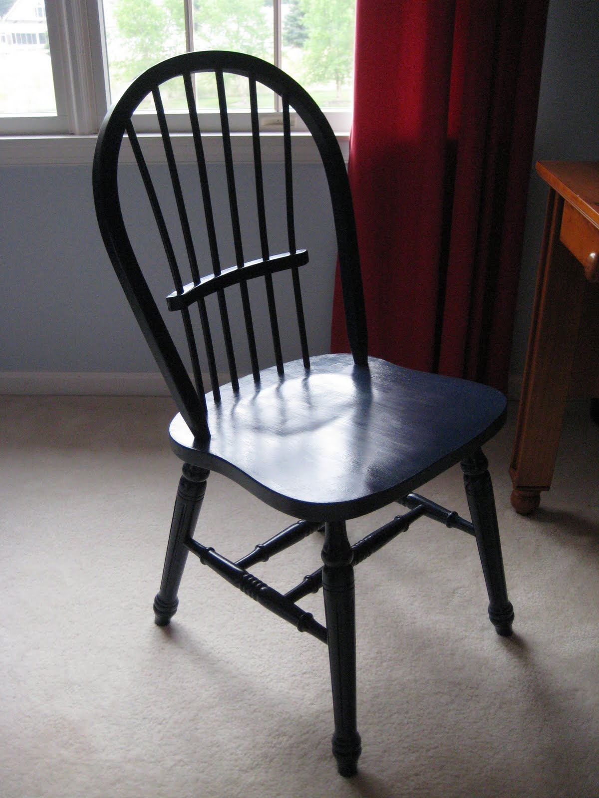 Painting the $20 Chair Navy Blue