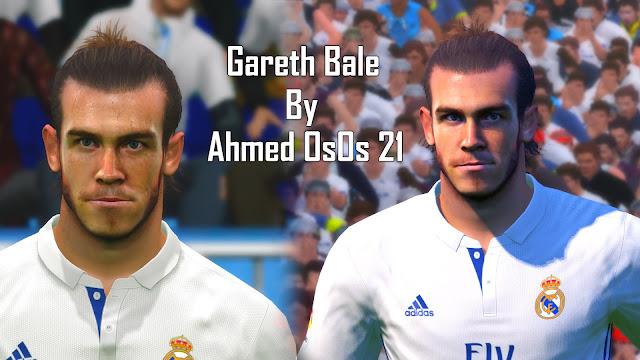 PES 2017 G. Bale Face By AhmedOsos21
