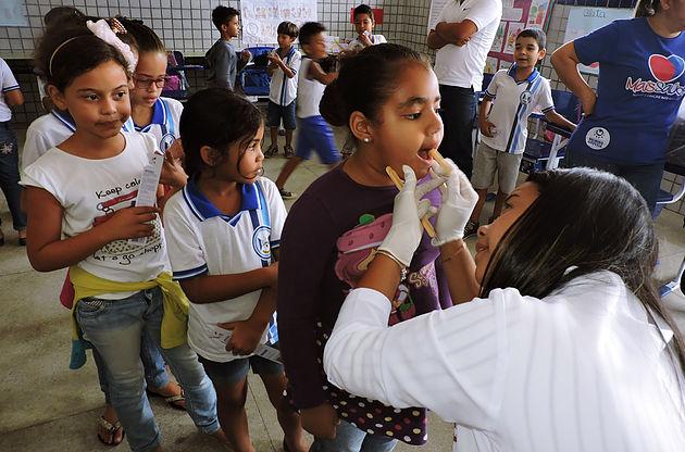 Em Delmiro Gouveia, Secretaria de Saúde Equipe do Programa Saúde na Escola realiza visita na Escola José Correia Filho