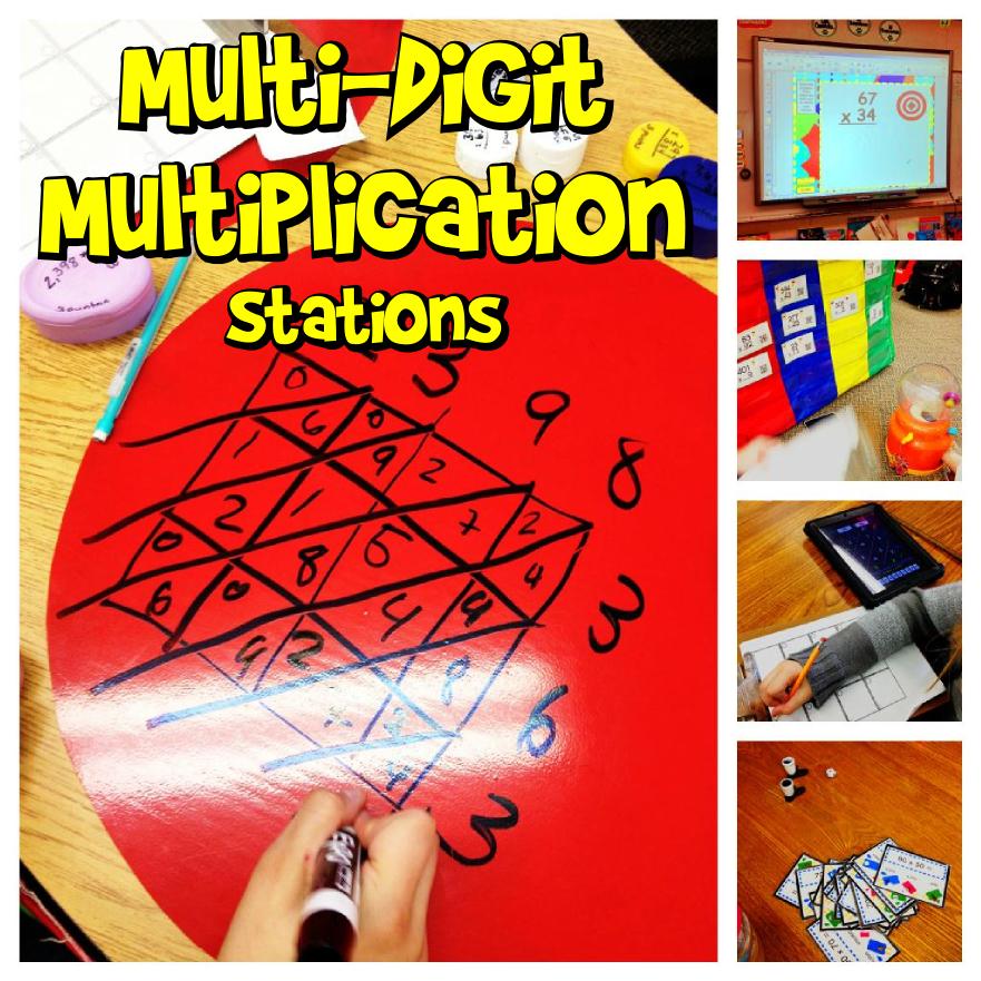 Multi Digit Multiplication Math Stations