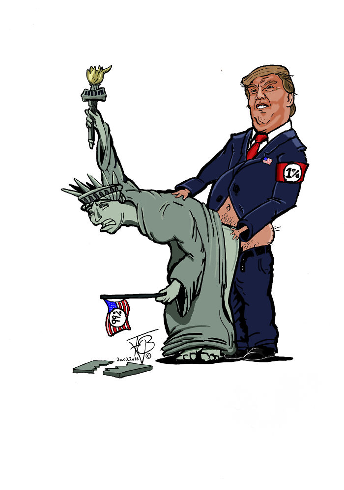 15+ Cartoonists Around The World Illustrate How They Feel About Trump Becoming President - Usa Pg-18