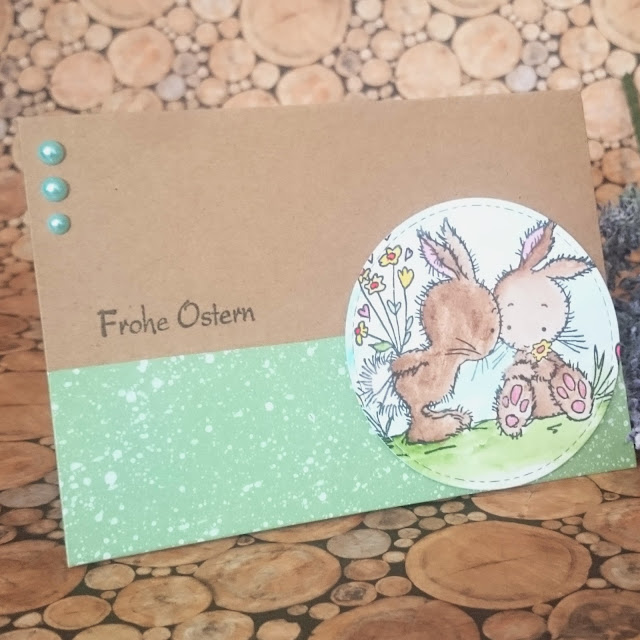 [DIY] Bunnies in Love: It´s easter time! // Oster-Karte mit Häschen