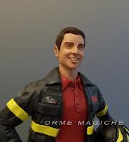 statuine ritratti in divisa pompieri cake topper da foto originali vigile del fuoco orme magiche