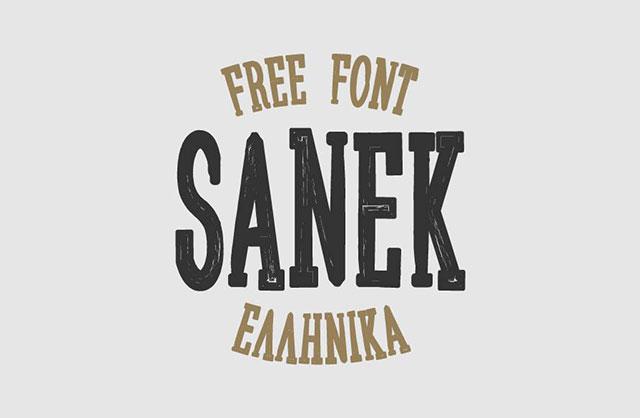 Sanek_Free_Font
