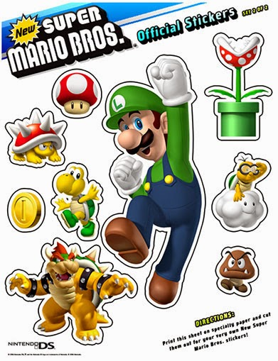 My Super Mario Boy: New Super Mario Brothers Printable Stickers