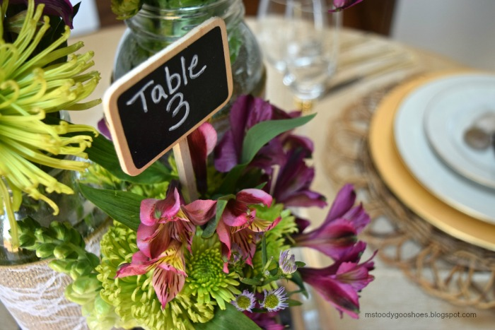 Mason Jar Wedding Centerpieces: Easy DIY project! These would be great for a barn wedding, or shower! | Ms. Toody Goo Shoes