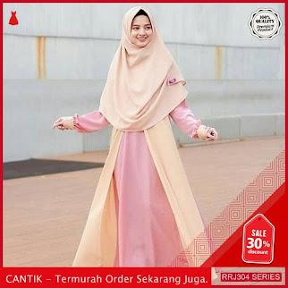 Jual RRJ304D47 Dress Asma Syari Wanita Cream Wd Terbaru BMGShop