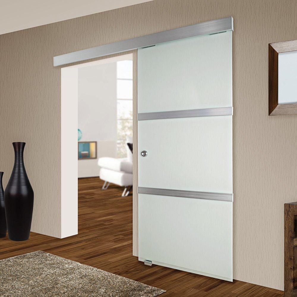 Puertas correderas puertas correderas de cristal o vidrio - Puerta corredera empotrada ...
