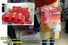 Sprei Kintakun Luxury Queen 160x200xT25 Cherry Berry Bunga Merah Dewasa