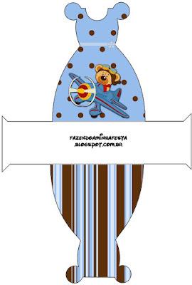 Uçakta Ayıcık Temalı Doğum Günü, Ücretsiz Uçak Temalı Doğum Günü Seti,Flama, Su Şişesi Etiketi, Peçete Etiketi,cupcake süsleri,etiket