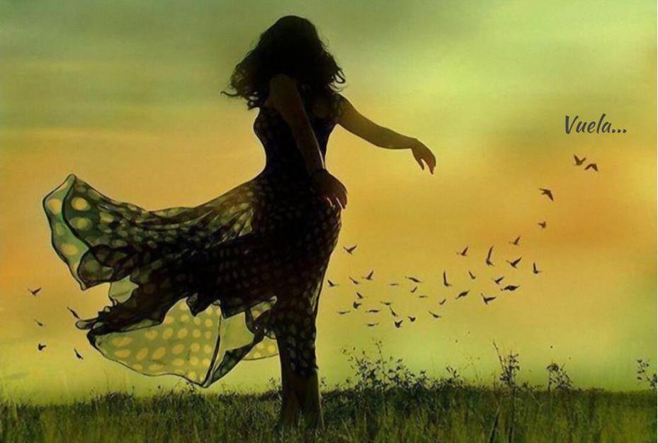 Yo, mujer. Mujer que recibe su propia libertad como un regalo del viento.
