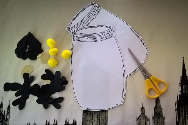 craft lucciole e bambini