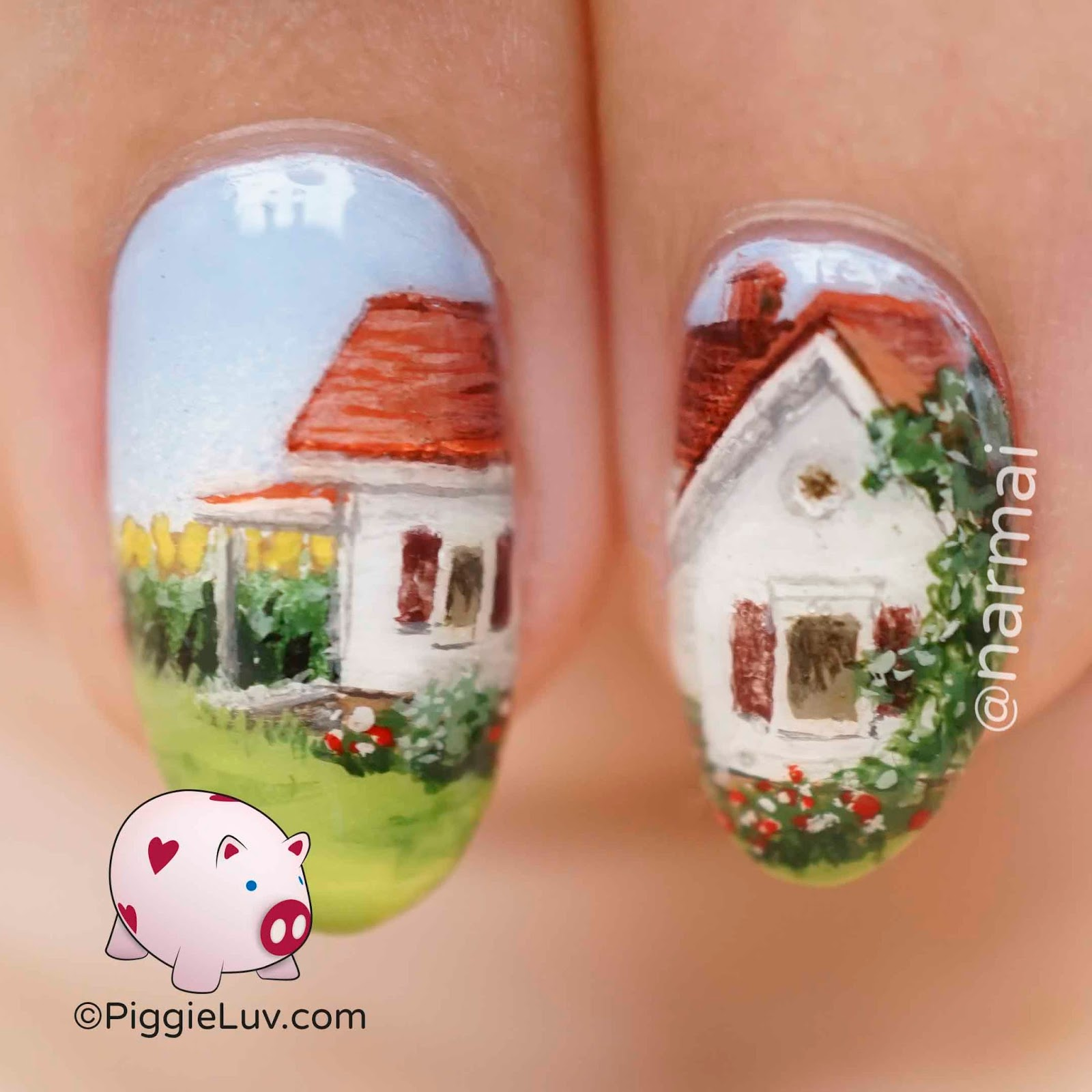 Piggieluv summer in the countryside nail art did i have bionic eyes while painting this design im not sure how everything turned out so sweet detailed and painter ish yes i just made that a word prinsesfo Images