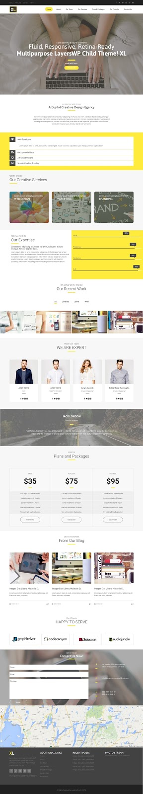 Responsive LayersWP Child Theme