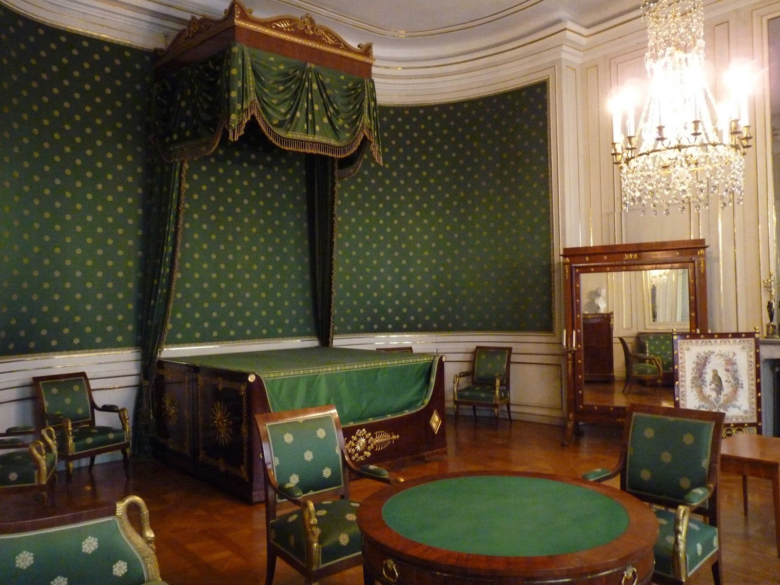 Schloss Nymphenburg, Dormitorio de la reina Caroline.