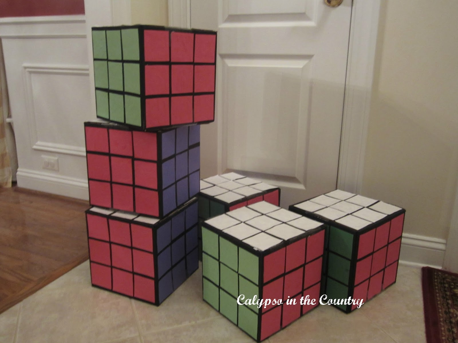 DIY Rubik's Cube decorations
