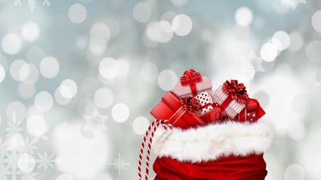 Bag of Christmas gifts