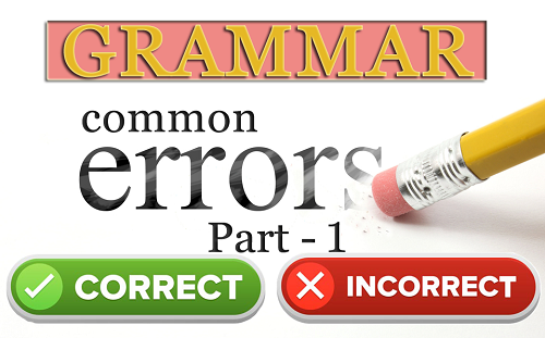 Grammar Sentences with Common Errors Mistakes