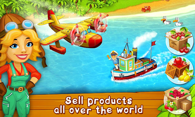 Download Game Farm Paradise Hay Island Bay v1.49 Mod Apk Terbaru (Unlimited Diamonds)