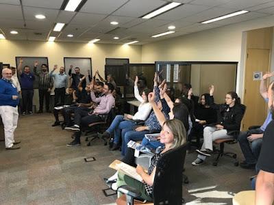 Em assembleia com trabalhadores, Sindpd esclarece dúvidas sobre a reforma trabalhista