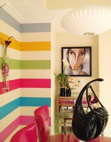 Pintura para pasillo de colores vivos