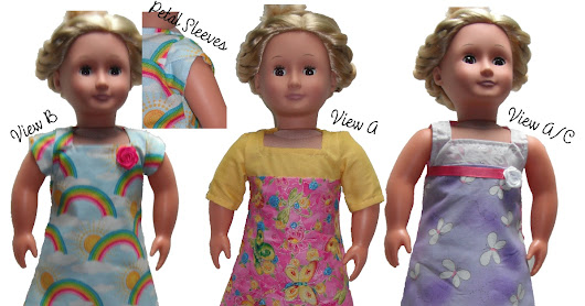 "18"" Doll Square Neck Dresses"