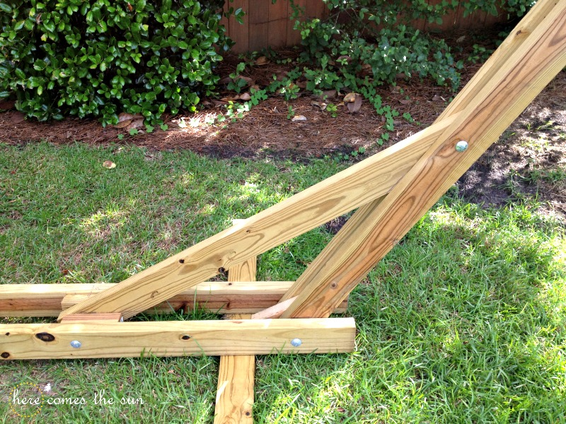 Hanging Chair Bolt Vanity And Mirror $40 Diy Hammock Stand That You Can Make This Weekend