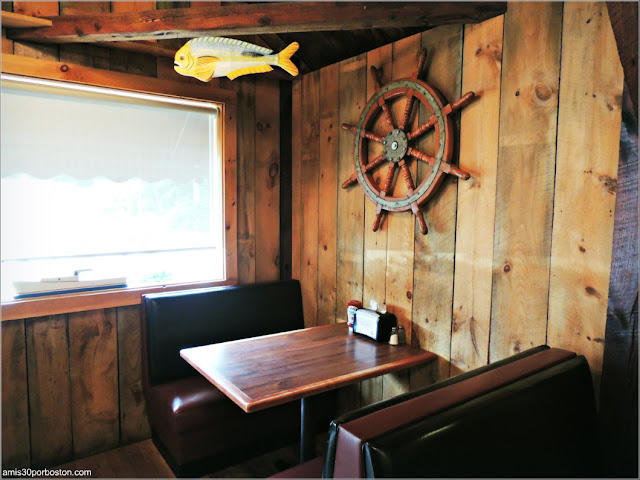 Comedor del Lobster Shack Al's Seafood en New Hampshire