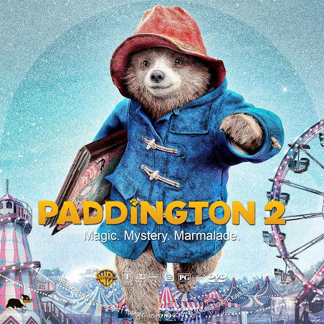 Paddington 2 DVD Label