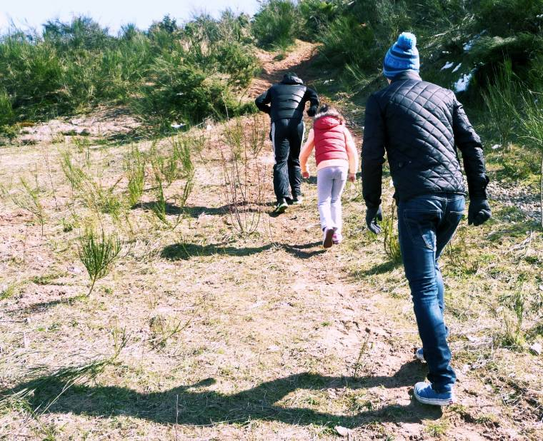 Easter Walk With The Kids: Over The Hill And Far Away