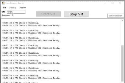 Error ExsamBrouser Admin Checking Waiting VHD Service Redy Terus Menerus