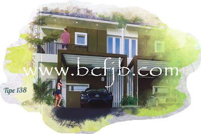 Rumah Mewah minimalis 2 laintai tipe 138 Strategis di Batam