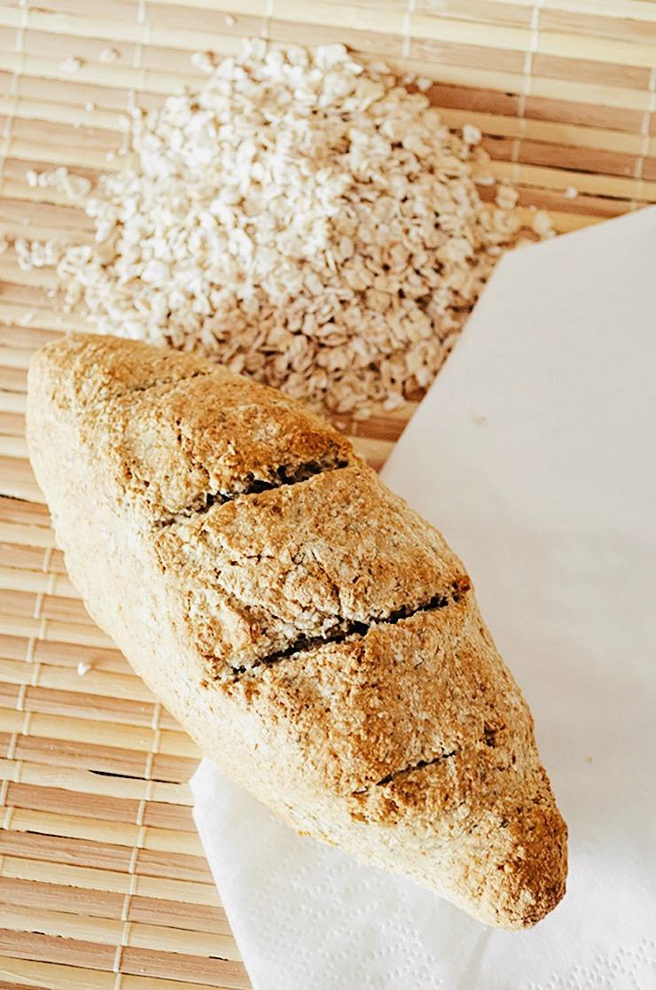Receta pan de avena