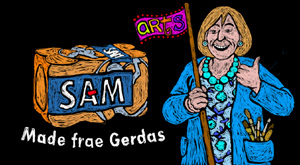 still from Gerda's goodbye video toon