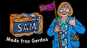 still from Gerda's goodbye video toon