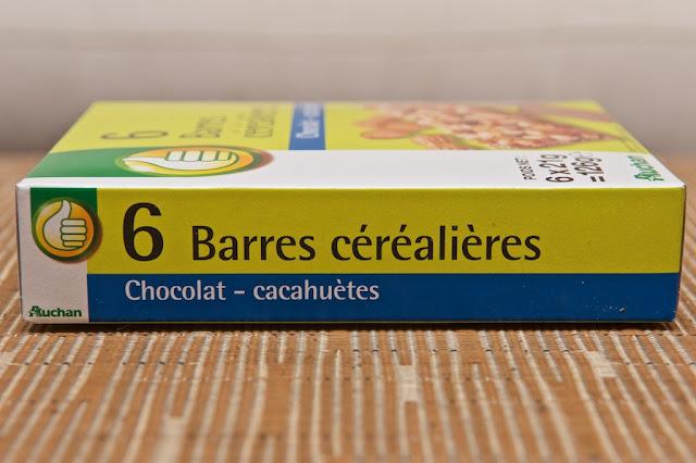 Barres Céréalières Chocolat-Cacahuètes Auchan - Barres de céréales - Chocolat - Cacahuète - Pouce - Auchan Pouce - Discount - Peanut - Chocolate - Breakfast - Snack - Dessert - Food - MDD
