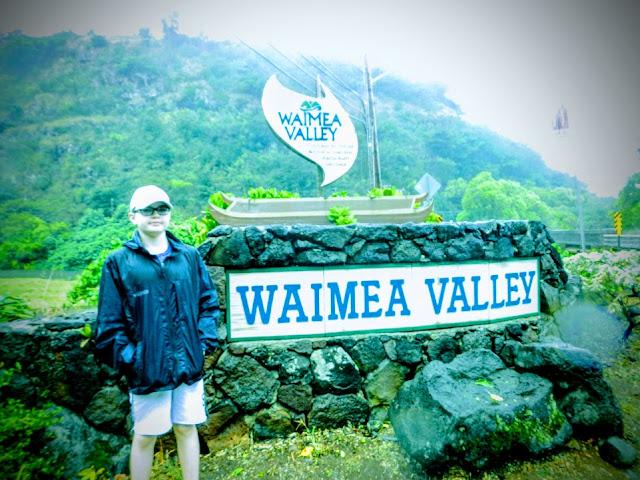 Hiking to Waimea Valley Falls