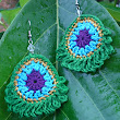 Simple Peacock Earrings