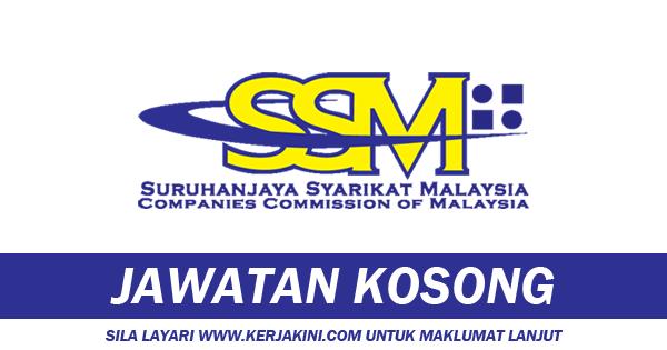 jawatan kosong suruhanjaya syarikat malaysia ssm