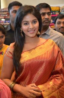 celebrity actress anjali in beautiful gorgeous silk saree