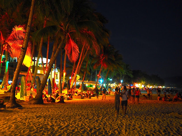 Night on White Beach, Boracay, Philippines